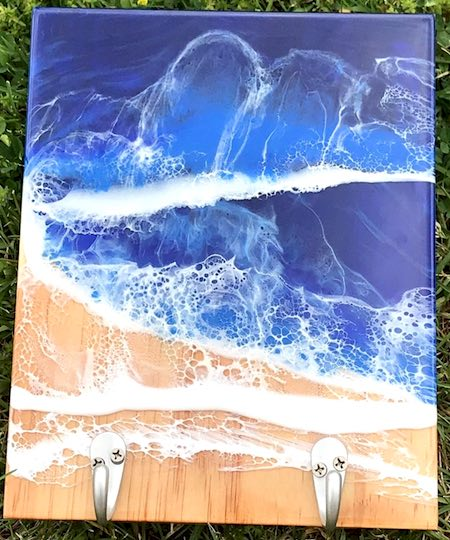 artist: Amy - resin ocean coat rack