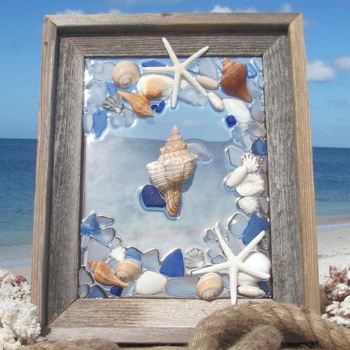 artist: Anita - resin and shells and starfish (seashells in resin)