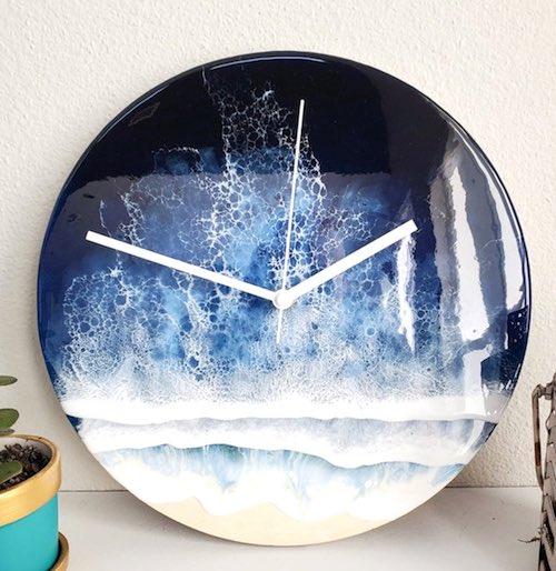 Ocean Wave Clock by Anton Matejek