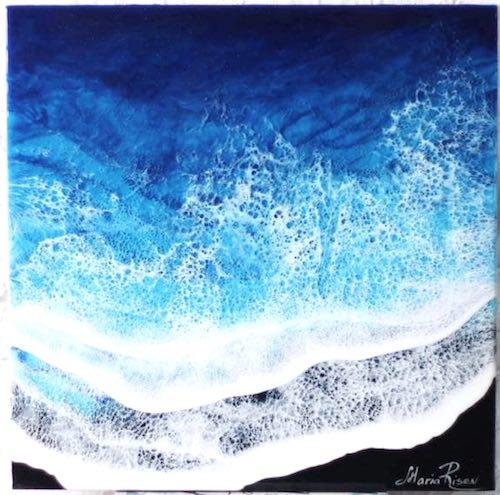 artist: Maria Risen - beach resin painting
