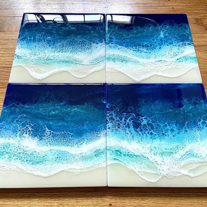"""Beyond The Sea"""" Ocean Resin Art"""