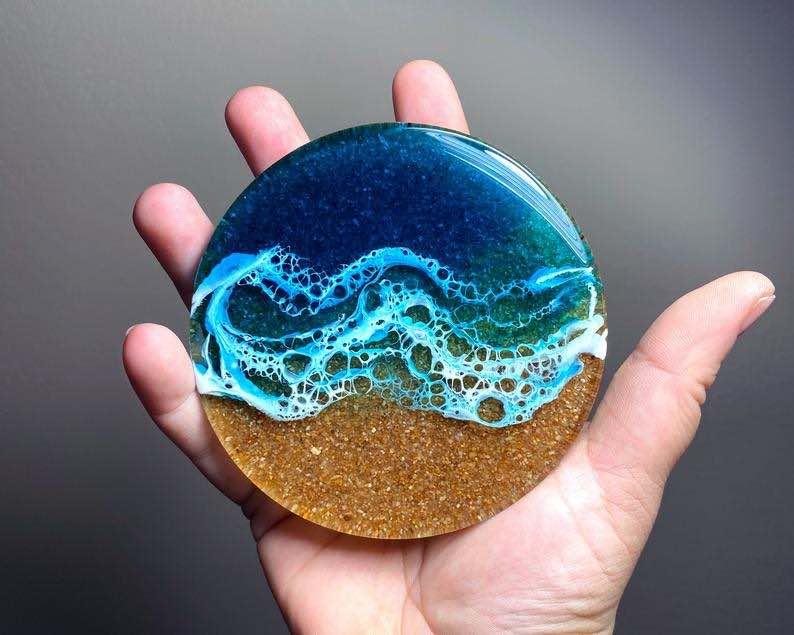 "Shallow Shores"" Ocean Resin Art"