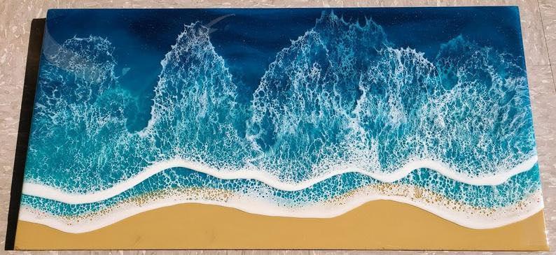 "The Resin Ocean"" - Ocean Resin Art"