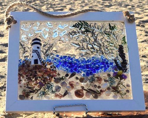 artist: Stefanie Deringer - lighthouse resin artwork