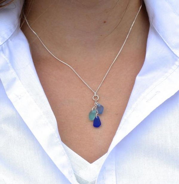 Cascade Sea Glass Necklace