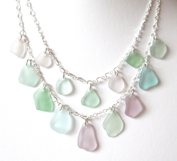 Double Sea Glass Necklace