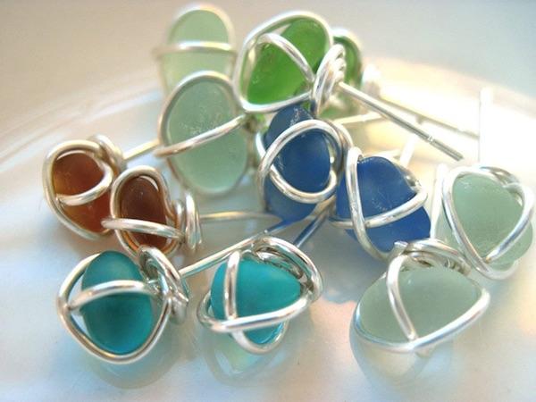 Seaglass Stud Earrings