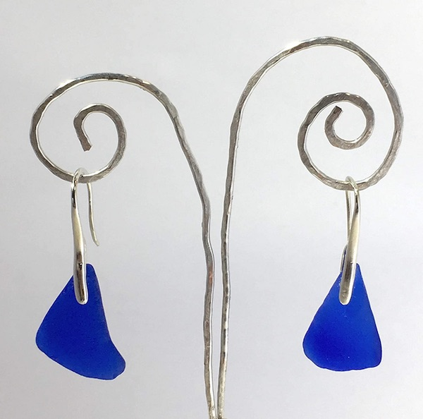 Untouched Blue Sea Dangle Earrings
