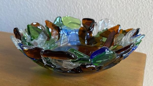 Mosaic Sea Glass Bowl