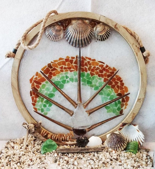 Sea Glass Art Circle