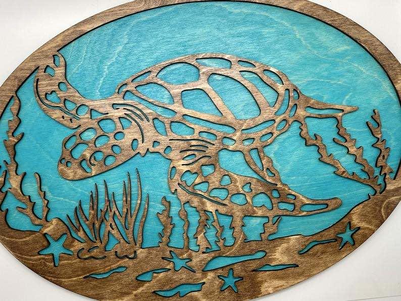 Sea Turtle Wooden Wall Art