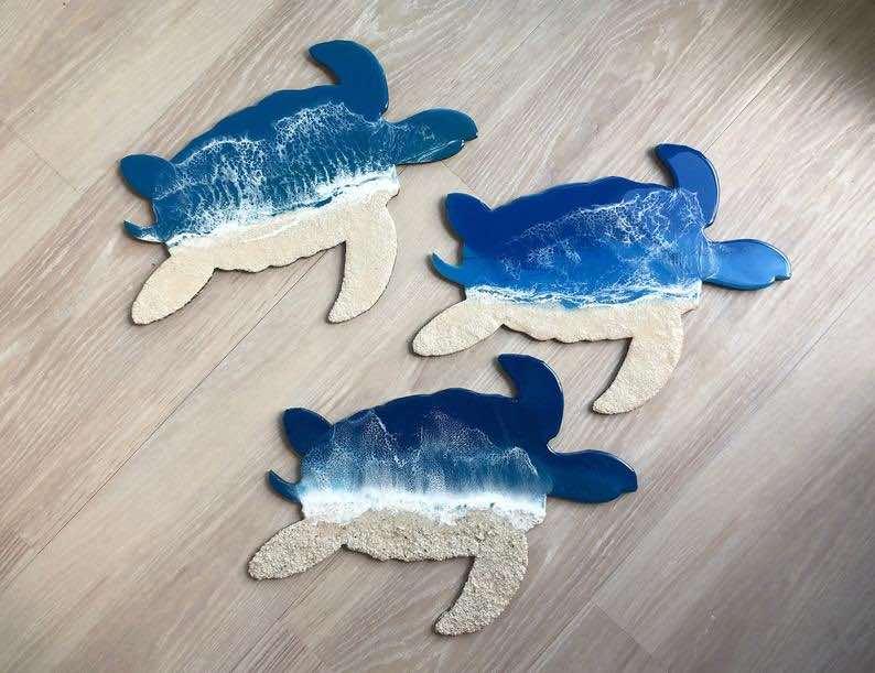 esin and Sand Sea Turtle Artwork