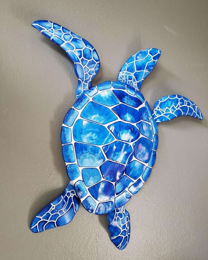 28″ Acrylic Sea Turtle Wall Art