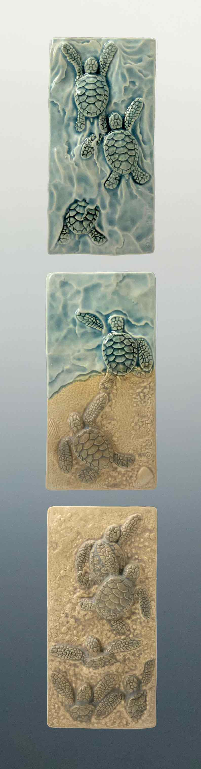 Baby Sea Turtle Ceramic Art Tiles