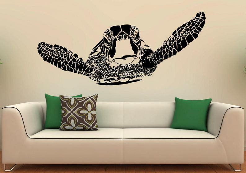 Sea Turtle Wall Decal Vinyl Stickers