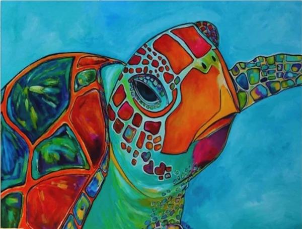 Seaglass Sea Turtle