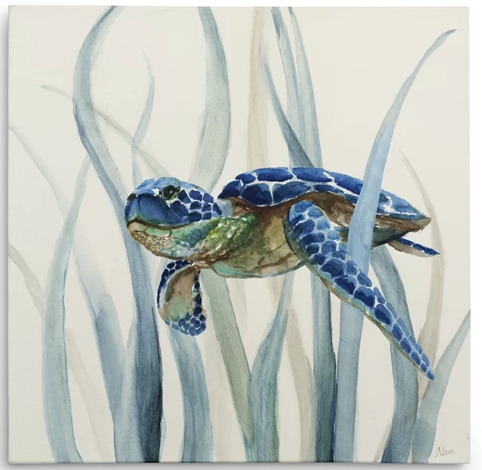 Turtle in Seagrass II