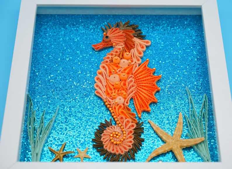 """""""The Coral Seahorse"""" Wall Art"""