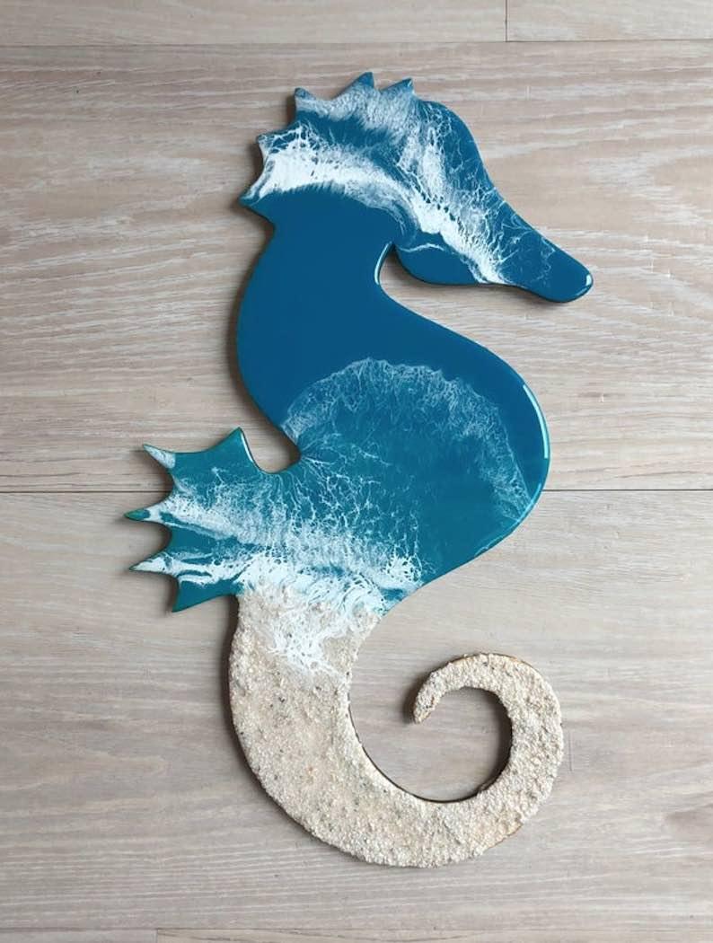 18″ Resin Seahorse