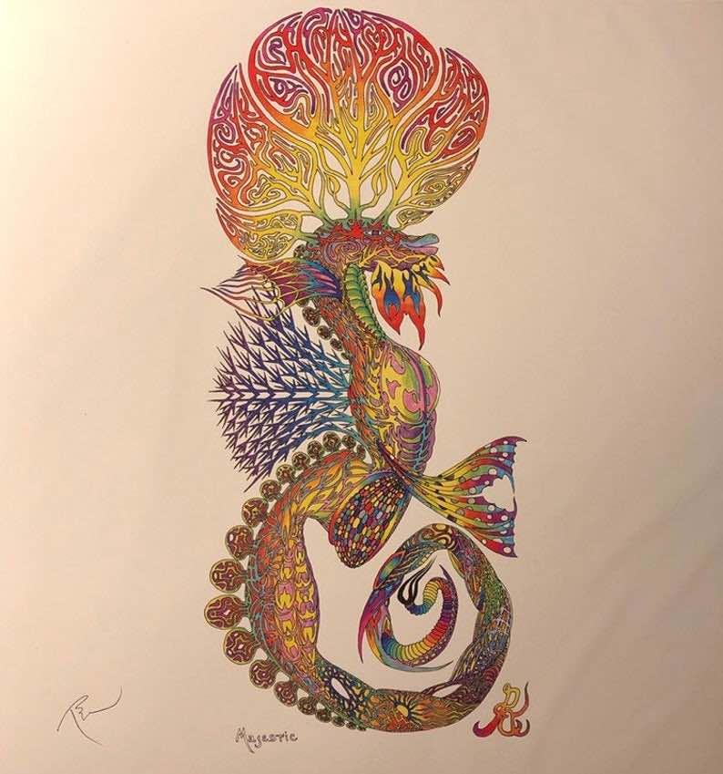 Majestic Magical Seahorse Print
