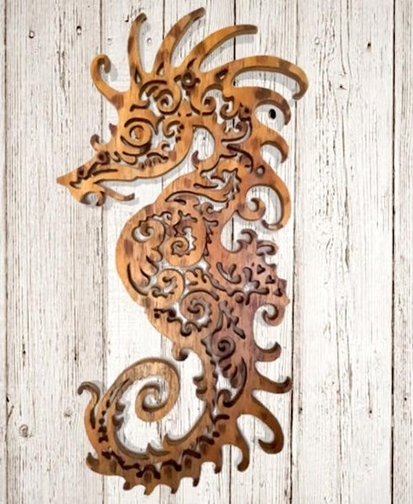 Wood Wall Seahorse