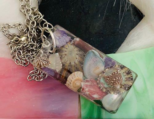Art Deco Seashell Necklace