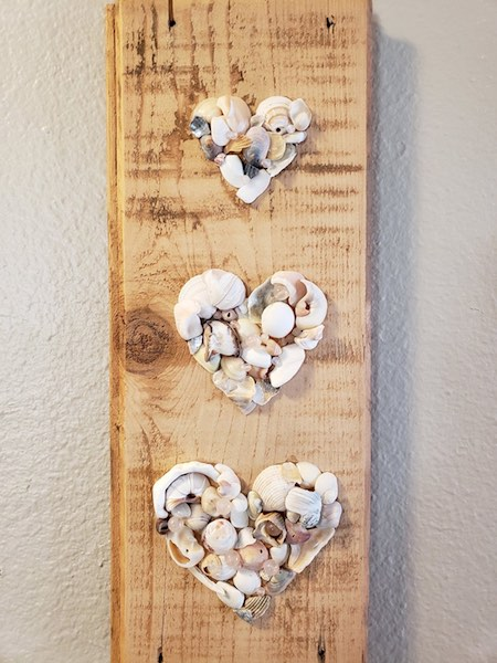 Three Seashell Hearts by Kristina