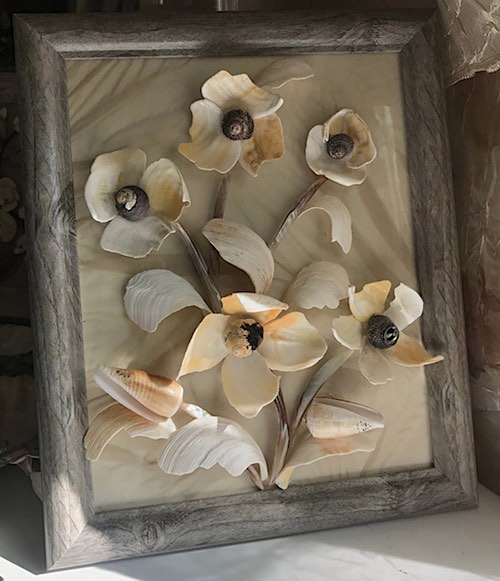 Shell Flowers by Maria Byerley