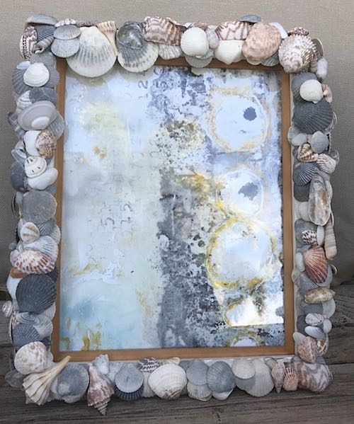 Sea Shell Picture Frame by Seanna
