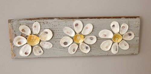 Baby Oyster Shell Daisies by Stephanie Figuerado