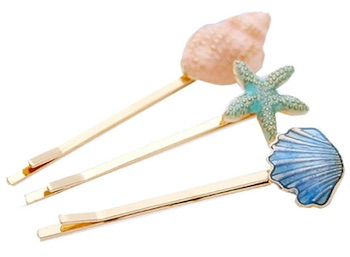 Conch & Starfish Hairpin Barrettes