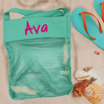 Personalized Seashell Collection Bag