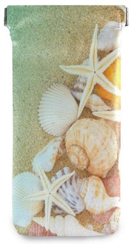 Sandy Beach Seashell Sunglasses Pouch