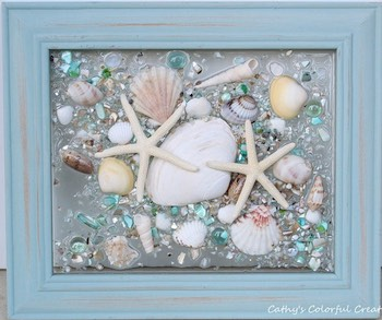 Sea Glass & Shells Suncatcher Window
