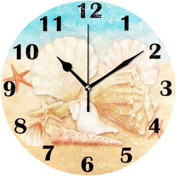Seashell Starfish Wall Clock