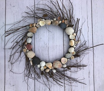 Sea Shell Twig Wreath
