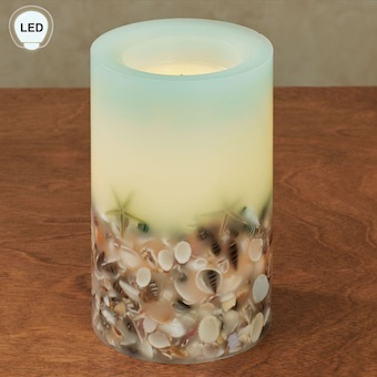 Seashell & Starfish Flameless Candle