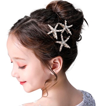 Starfish Flower Girl Hair Clip