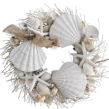 ummer Seashell Wreath